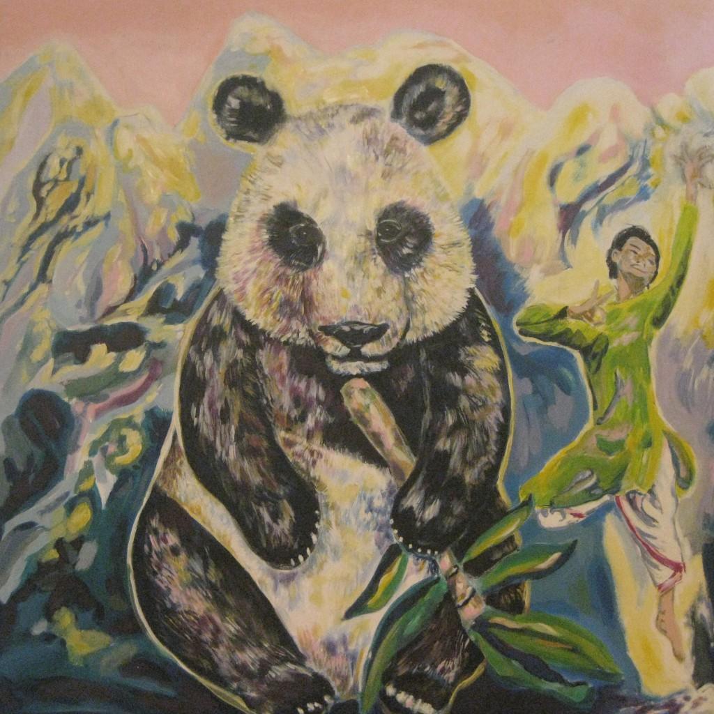 Panda und jesuitischer Tänzer