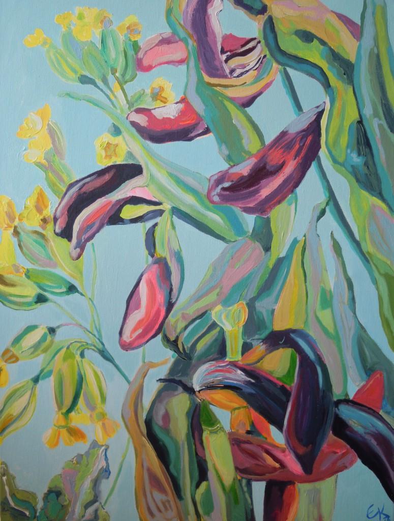 Schlüsselblumen und Tulpen